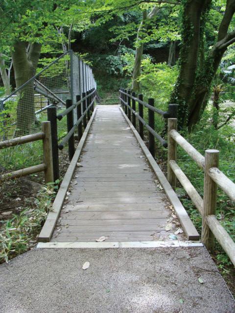 再生木材で作った橋